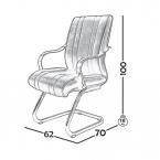 صندلی کنفرانس مدل C420 0018
