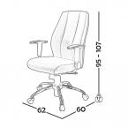 صندلی کارشناسی مدل B130 0036