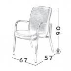 صندلی انتظار مدل W700 0042