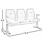 صندلی انتظار مدل W123 0045