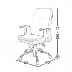 صندلی کارشناسی مدل BM110 0069